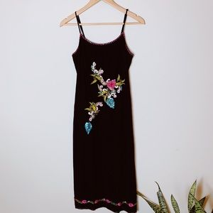 Vintage Sue Wong Embroidered Sequin Slip Dress